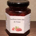 CONFITURE EXTRA BIO DE FRAISE – 125 Gr (Morceaux Cubes)