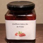 CONFITURE EXTRA BIO DE FRAISE – 250 Gr (Morceaux)