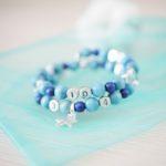 Bracelet d'allaitement – Bleu givré