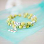 Bracelet d'allaitement – Vert anis