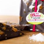 Tablette chocolat noir 66% caramel fleur de sel 115g
