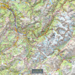 Tour de Cou – Massif du Mont blanc – Echelle 100 000 Touristique