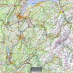 Tour de Cou – Haute Savoie – Carte routière – Echelle 250 000